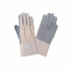 Chrome Canvas Leather Hand Gloves