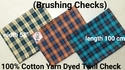 Yarn Dyed Twill Check (Brushing Check)