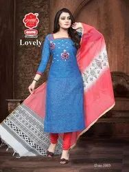 Assorted Casual Wear Ladies Lovely Suit Material, Handwash