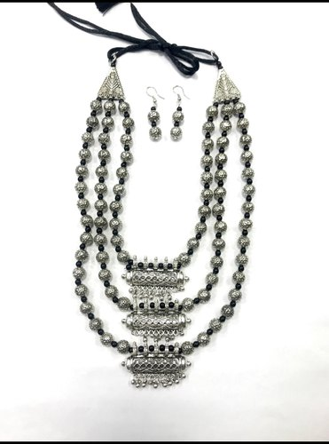 Metal Oxidised Necklace