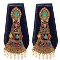 Ladies Gold Plated Afghani Earrings