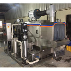Stainless Steel Conveyorised Bin Cleaning Machine, Power: 30 kW