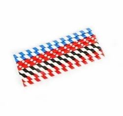 Striped Paper Straw