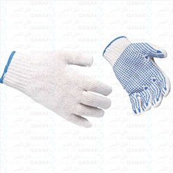 Cotton PVC Dotted Gloves