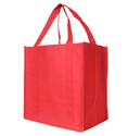 Red Non-woven Grocery Bag, Thickness: 40 - 100 Microns