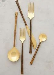Hammered Brass Cutlery Set