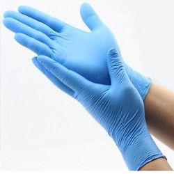 Blue Color Nitrile Gloves
