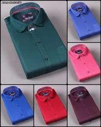 Multicolor Cotton Luis London Men Plain Shirt