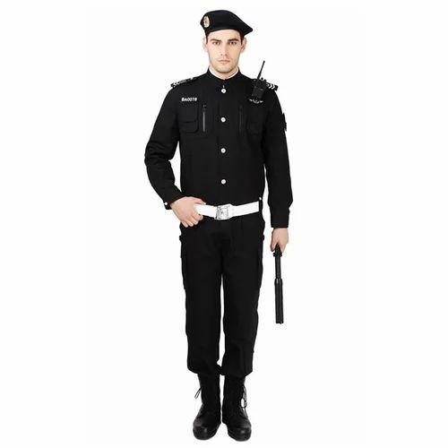 b245f736 Black Cotton Mens Security Guard Uniform, Size: S And L, Rs 800 /set ...