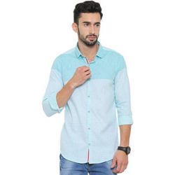 Mens Striped Cotton Casual Wear Shirt, Size: S-XXL