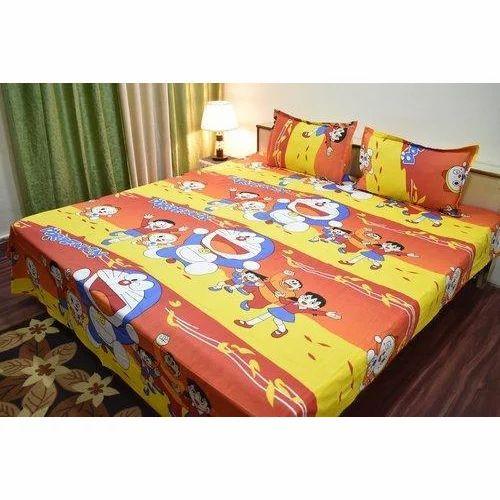Doraemon Kids Double Bed Sheet