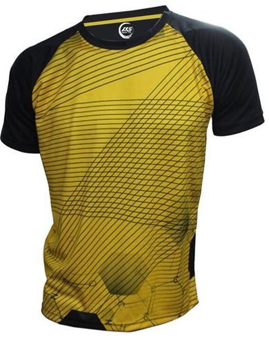 b28c62ab40a Aks Sports Small And XL Yellow   Black Raglan Sports T-Shirt