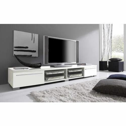 White Wooden Plasma Tv Unit