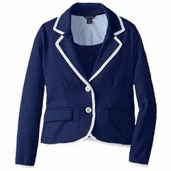Full Sleeve Plain Kids School Blazer, Packaging Type: Packet
