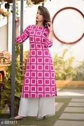 Ladies Designer Kurti With Palazzo