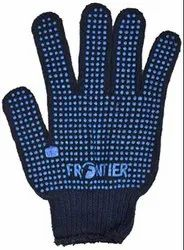 Blue Cotton Frontier Double Dotted Hand Gloves 65Gram