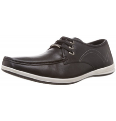 Lee Cooper Black Casual Shoes, Gents
