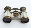 Vintage Pearl Opera Glass Brass Binoculars