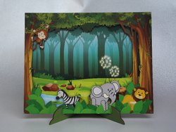 Rectangle MDF Jungle Theme Wooden Photo Frame