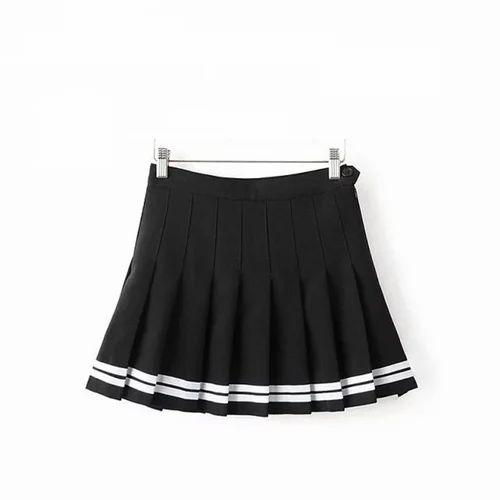 Black White Cotton Girls School Skirt Rs 500 Piece Allwin Id