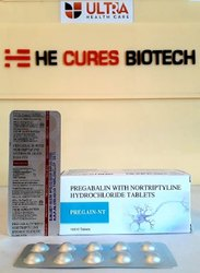 Pregabalin-75 Mg  Nortriptyline-10mg Tablet