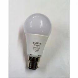 Round Aluminum 7 W LED Bulb, Base Type: B22