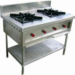 Stainless Steel SS Two Burner Range, for Commercial
