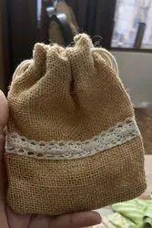 Jute Potli Bag, Size: 4x4