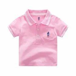 Custom cotton Baby Boys Collar T-Shirt, Size: 1 to 5