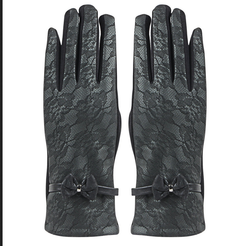 RWW6Z14012 Womens Leather Designer Winter Gloves