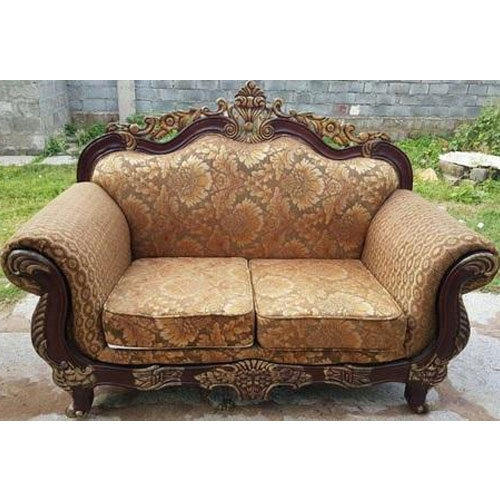 Brown Wooden Maharaja  Sofa