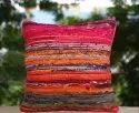Handloom Rug Cushion Cover Indian Decorative Cushion Cases