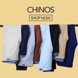 Slim Fit Multicolor Trouser, Size: 28-36