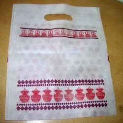 Non-Woven Top To Bottom Print D Cut Bag, Thickness: 60 GSM
