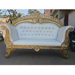 Wood Diamond Wedding Sofa