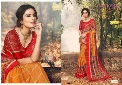 Mintorsi Presents Sanskar Viscose Satin Fancy Saree Seller Surat