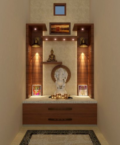 Standard Wooden Pooja Room For Home Size Dimension Location Rs 500 Square Feet Id 21359074612