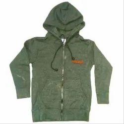 Green Casual Wear Kids Hoodie Jacket