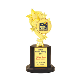 Gold Plated Star Trophy