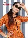 Neha Fashion Pracheen Vol 2 Rayon Printed Flair Kurties Collection