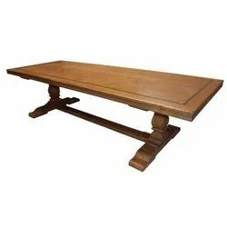 Venus Solid Wood Wooden Rectangle Table, for Home, Size: 180 X 90 X 75 Cm