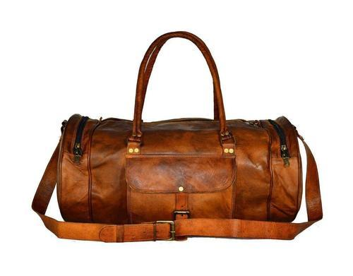 197a820cf090 Leather Duffle Bag made of 100% Goat Leather
