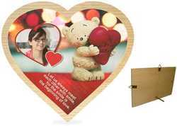 1089MT Heart Wooden Plaque