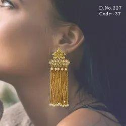 Traditional Pearl Tassel Earrings