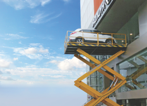 Hydraulic Car Lift Table Size Feet X Feet 1200x1200 Mm Id