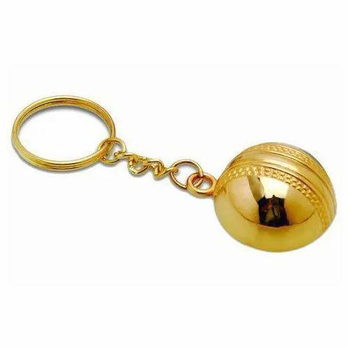 Golden Brass Keychain