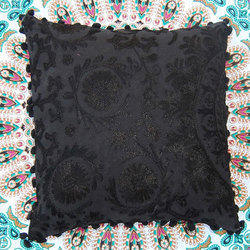 Black Embroidery Cushion