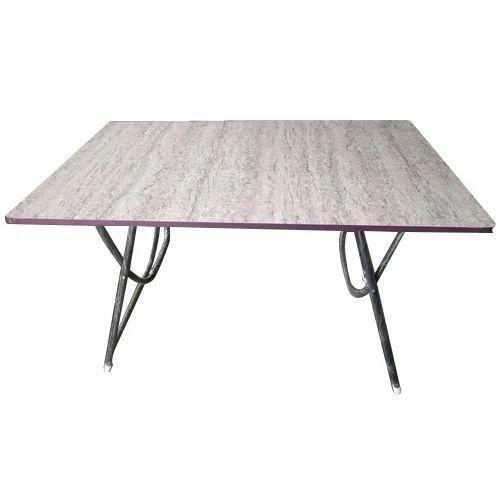2x4 Feet Wooden Folding Table लकड