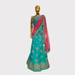Green Heavy Work Fancy Lehenga