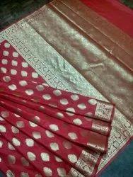 Silk Banarasi Sarees, Length: 6 m
